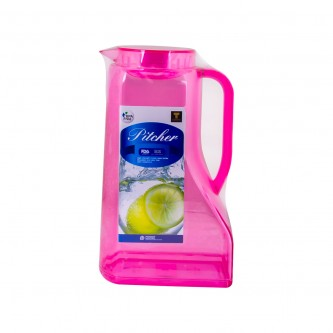 جاك مفرد بلاستيك اكرلك شفاف بيد 2200مل لون زهريPN442