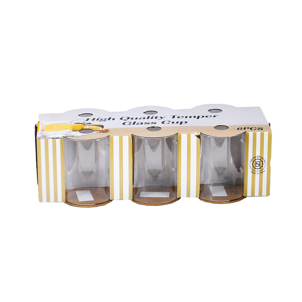 اكواب زجاج بيد  طقم 6 حبة  رقم 19HM543