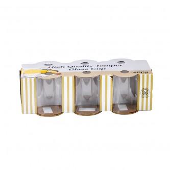 اكواب زجاج بيد  طقم 6 حبة  رقم 19HM542