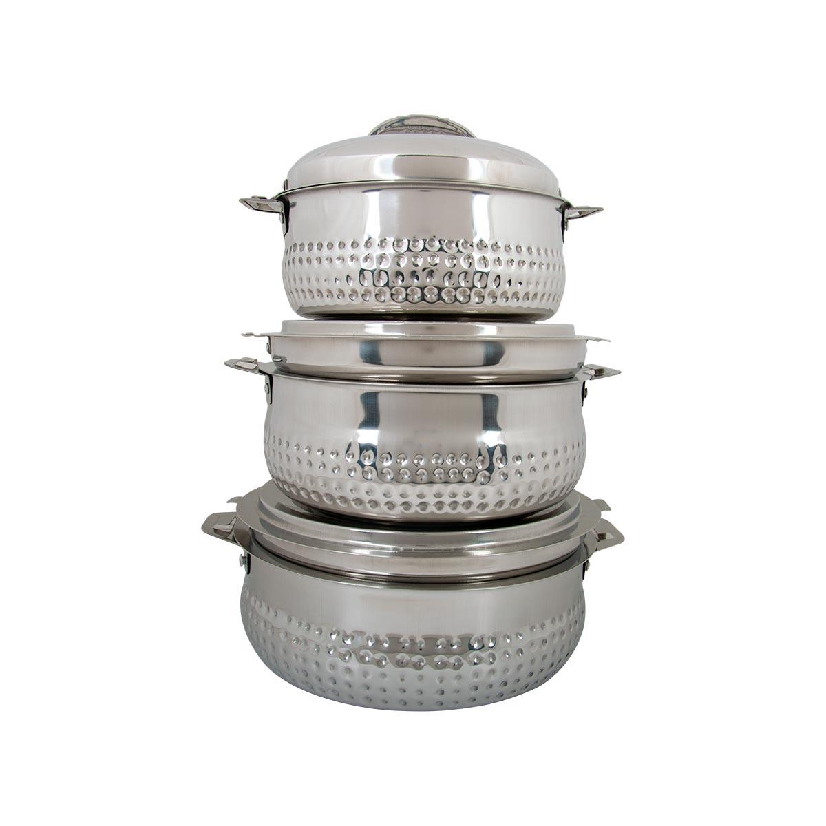 طقم حافظات طعام ستار- استانلس استيل 3 مقاسات صغيرة  رقم SAM7527