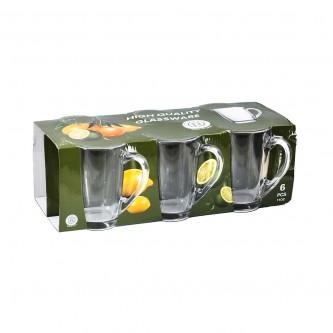 كاسات زجاج طقم 6 حبة  رقم ZB44-2