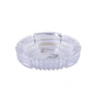طفاية سجائر زجاج شفاف دائري رقم KTG7001-1