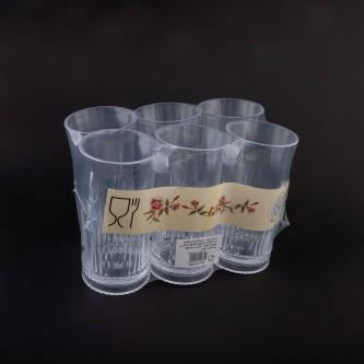 كاسات بلاستيك شفاف طقم 6 حبة رقم  P285/12