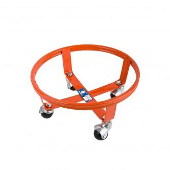قاعدة اسطوانة غاز حديد بعجلات , لون برتقالي