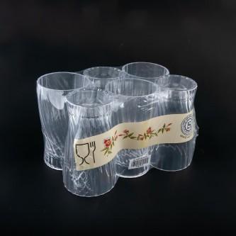 كاسات بلاستيك شفاف طقم 6 حبة رقم  T283/12