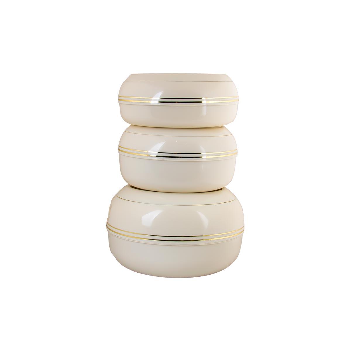 حافظات طعام بلاستيك جايبي طقم 3 مقاسات مختلفة لون بيج رقم JAY999016