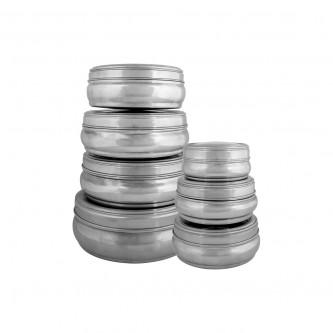 طقم علب استانلس استيل بغطاء شفاف 7 حبة  رقم BSK75600