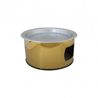 سخان كنافة استيل مقاس 32 سم لون فضي مع ذهبي رقم CC-57+CO-86
