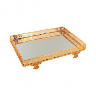 طفرية تقديم استيل مستطيل لون ذهبي رقم 799306G-8