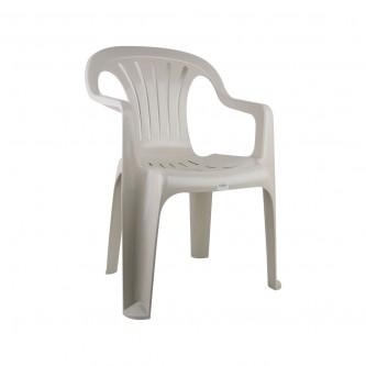 كرسي بلاستيك بذراعين التقنية لون ابيض