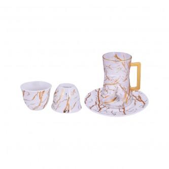 طقم فناجين قهوة  وبيالات شاي مع الصحون 36 قطعة رقم YDH07199