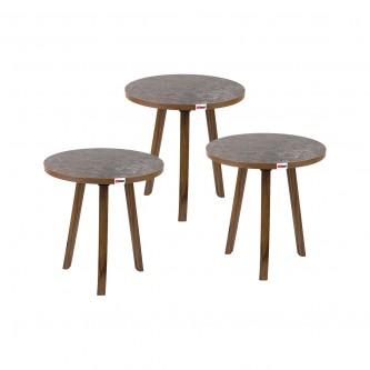 طاولة تقديم وخدمة خشب 3 قطعة بني EY-04 رقم  1160814