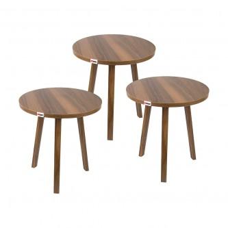 طاولة تقديم وخدمة خشب 3 قطعة بني EY-01 رقم  1160714