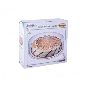 صينية تقديم الكيك والحلا دائري شفاف رقم ST-159-LC-AC