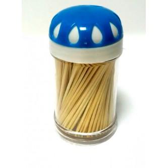طقم اعواد اسنان خشب 12 علبة - اغطية ملونة