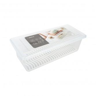 حافظه بلاستيك مستطيل شفاف مع شبك  رقم SH19548