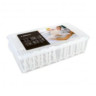 حافظه بلاستيك مستطيل شفاف مع شبك  رقم SH19549