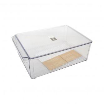 حافظه بلاستيك مستطيل  مخطط كبير -  شفاف  موديل SH 19528