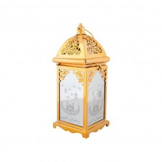 فانوس رمضان بطارية مع مبخرة  لون ذهبي  رقم AS13118