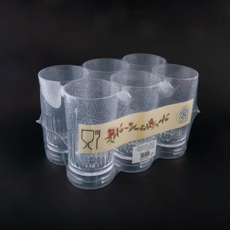 كاسات بلاستيك شفاف طقم 6 حبة رقم  P102/8