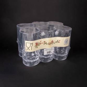 كاسات بلاستيك شفاف طقم 6 حبة رقم  P099/8