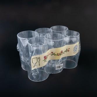 كاسات بلاستيك شفاف طقم 6 حبة رقم  T275