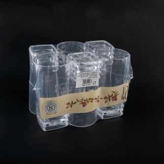كاسات بلاستيك شفاف طقم 6 حبة رقم  P293/12