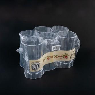 كاسات بلاستيك شفاف طقم 6 حبة رقم T277/12