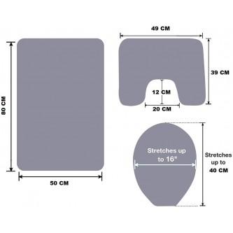 طقم دعاسة حمام 3 قطع قماش  رقم YM-23024