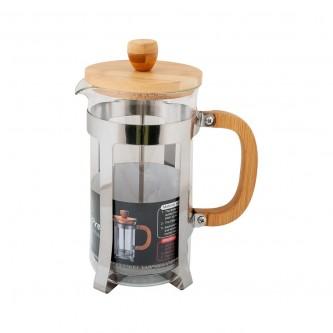 ابريق شاي زجاج بغطاء خشب  1000 مل رقم PW1024