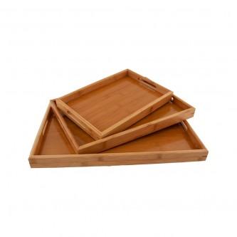 طفرية تقديم خشب مستطيل طقم 3 حبة رقم 8319