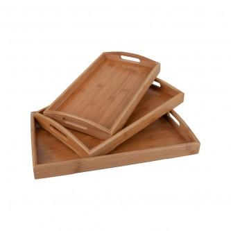 طفرية تقديم خشب مستطيل طقم 3 حبة رقم 23121