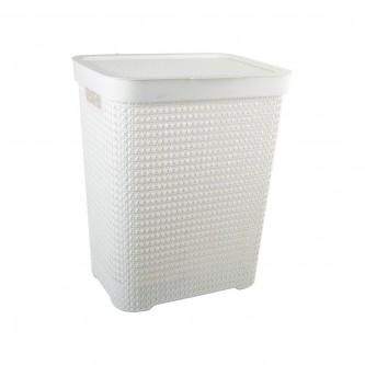 سلة غسيل و تخزين الملابس بلاستيك بغطاء رقم YM-24242