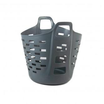 سلة غسيل و تخزين الملابس بلاستيك لون رمادي رقم YM-24245