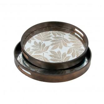 طفرية تقديم دائري طقم 2 قطعة خشبي رقم 779751