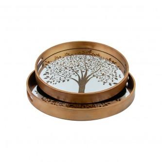 طفرية تقديم دائري طقم 2 قطعة خشبي رقم 779747