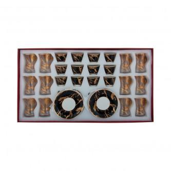 طقم فناجين قهوة  وبيالات شاي مع الصحون 36 قطعة رقم G41-2850