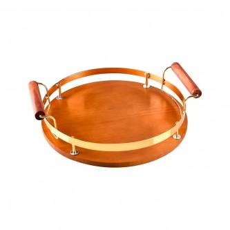 طفرية تقديم خشب فاخر دائري موديل  1003660