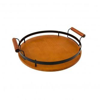 طفرية تقديم خشب دائري موديل 1003656