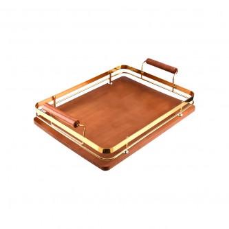 طفرية تقديم خشب فاخر مستطيل موديل  1003648