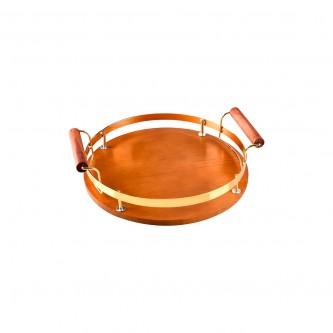 طفرية تقديم خشب فاخر دائري موديل  1003661