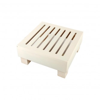 طاولة تقديم وخدمة خشب شرائح مربعة مقاس  29 * 29 * 13 سم