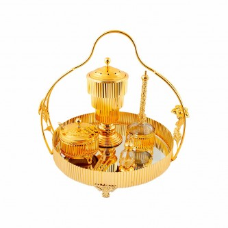 طقم عرائس استيل ذهبي فاخر رقم KH-022