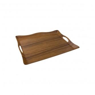 طفرية تقديم ميلامين مستطيل لون خشبي رقم B008A/019DM