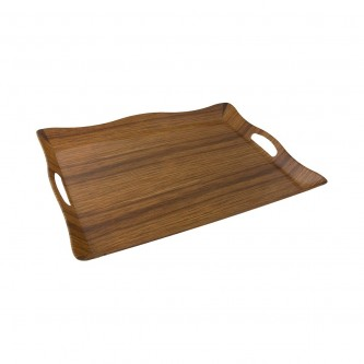 طفرية تقديم ميلامين مستطيل لون خشبي رقم B008A/019DL