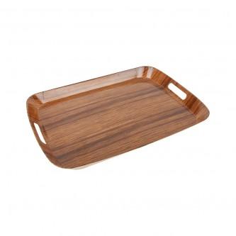 طفرية تقديم ميلامين مستطيل لون خشبي رقم B008A/020DL