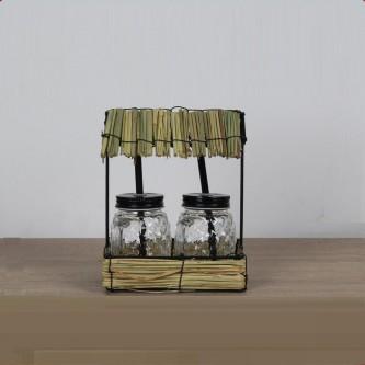 طقم كاسات عصير زجاج مع استاند موديل NB20-0135