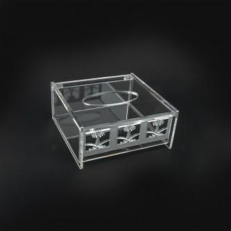 علبة مناديل شفاف اكريلك موديل 998710