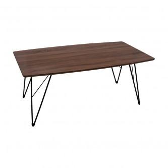 طاولة تقديم وخدمة خشب مستطيل لون بني غامق رقم 611