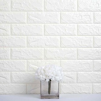 استيكر  ورق جدران لاصق لون ابيض رقم 7520001